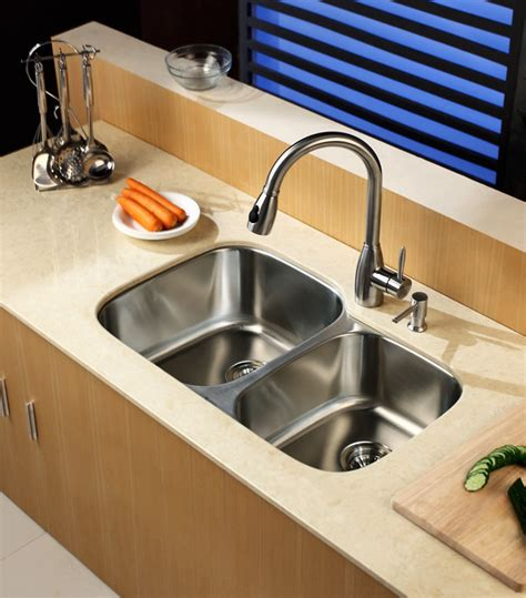 edge guard for undermount sinks kraus kbu24kpf2130sd20 32 inch undermount 60 40 double