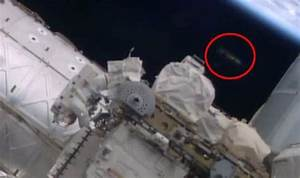 UFO sighting: 'Spacecraft' seen hovering by International ...