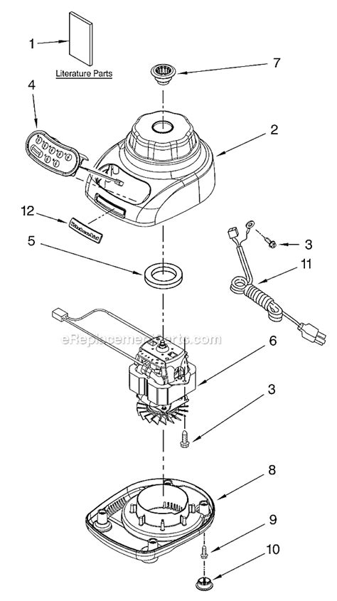 kitchen aid replacement parts kitchenaid ksb560 parts list and diagram series 1