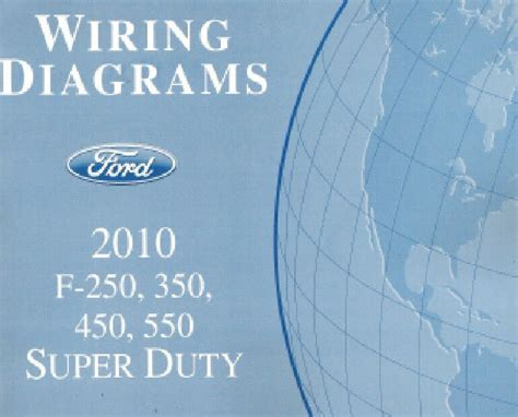 car manuals free online 2010 ford f350 electronic valve timing 2010 ford f250 f350 f450 f550 factory wiring diagram scehmatics manual ebay