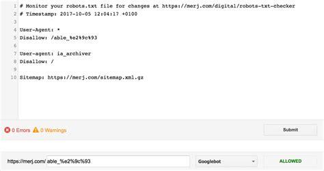 console robots inconsistencies txt solved google merj able cgi 9c escape e2