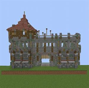 Medieval Wall Gate With Guard Tower V2 GrabCraft Your