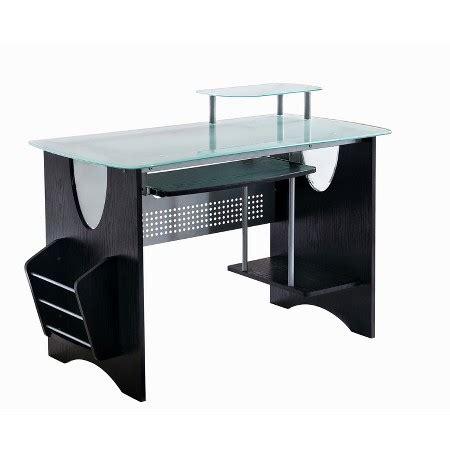 Tempered Glass Computer Desk  Techni Mobili  Target. Oak Secretary Desk. Cylinder Table Lamp. Small Extendable Dining Table. Desk Extension Ikea. Halogen Desk Lamps. Wall Desk Designs. Small Computer Workstation Desks. Standing Desk Matt