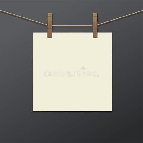 la pince a linge partition cadre de photo avec la pince 224 linge d isolement r 233 aliste illustration de vecteur image 47155352
