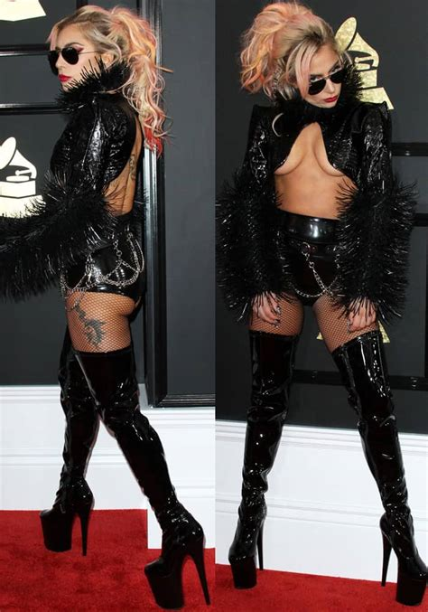 Lady Gaga Bares Curves at Grammys in Pleaser 'Flamingo ...