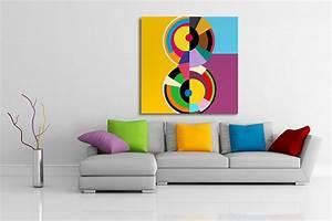 Tableau Moderne Coloré : toile moderne primaire izoa ~ Teatrodelosmanantiales.com Idées de Décoration