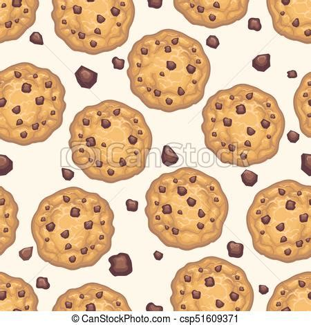 Free Cookie Background Images by Choco Chip Cookie Seamless Pattern Chocolate