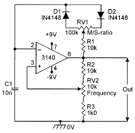 Squarewave Generator With Variable Ratio Frequency