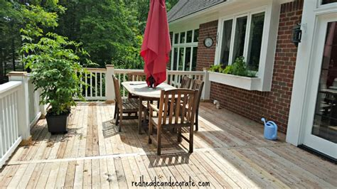 thompsons deck wash thompson s waterseal deck makeover can decorate