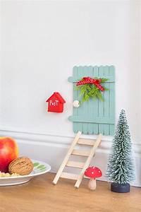 Namensschild Briefkasten Selber Machen : diy eine m rchenhafte wichtelt r basteln pfefferminzgruen basteln weihnachten und leiter ~ Frokenaadalensverden.com Haus und Dekorationen