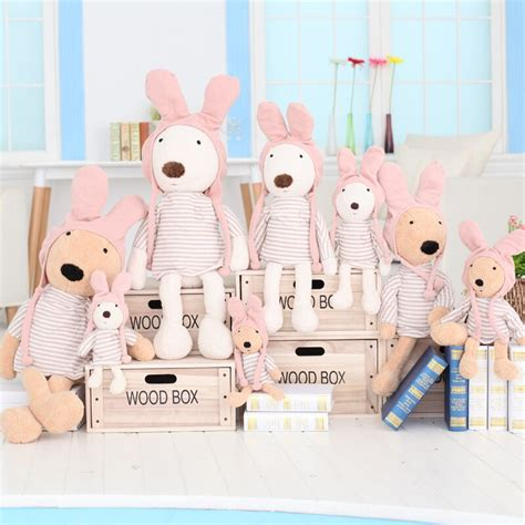 new le sucre rabbit dolls plush stuffed striped clothes with hat plush toys for children