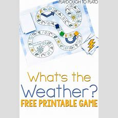 Free Printable Weather Game  Weather Terms, Free Printable And Weather