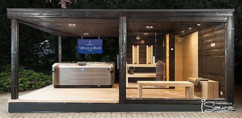 wellness mit whirlpool individuelle sauna zuhause wellness saunen bau aussen haus sauna