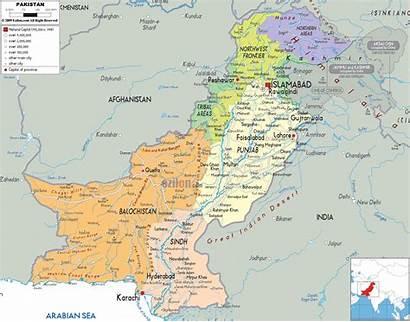 Pakistan Map Political Maps Ezilon Asia Detailed