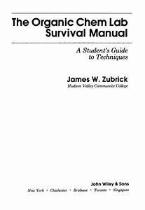 Zubrick Organic Chemistry Laboratory Survival Manual 2e Hq