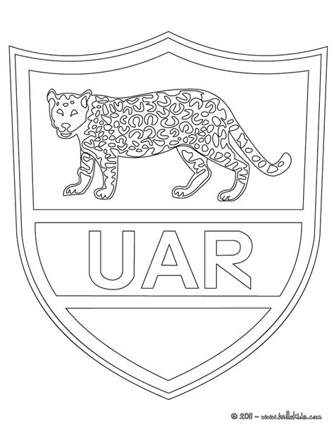 Rugby Kleurplaat by Argentina Rugby Team Uar Coloring Pages Hellokids