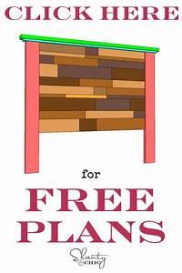 DIY Planked Headboard - Shanty 2 Chic