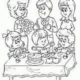 Coloring Birthday Pages sketch template