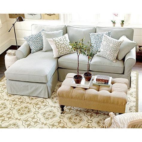 baldwin  piece sectional  left arm chaise slipcover
