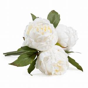 bouquet de fleurs artificielles 3 pivoines blanches With chambre bébé design avec livraison fleurs artificielles deuil