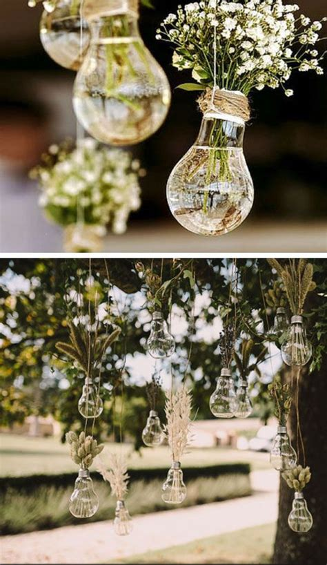 hanging light bulb vases easy wedding decorations dollar