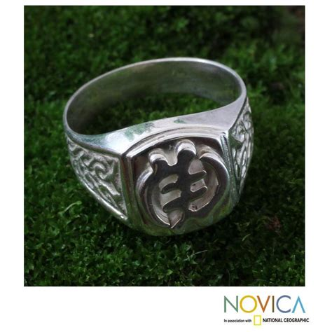 handcrafted s sterling silver god is supreme ring