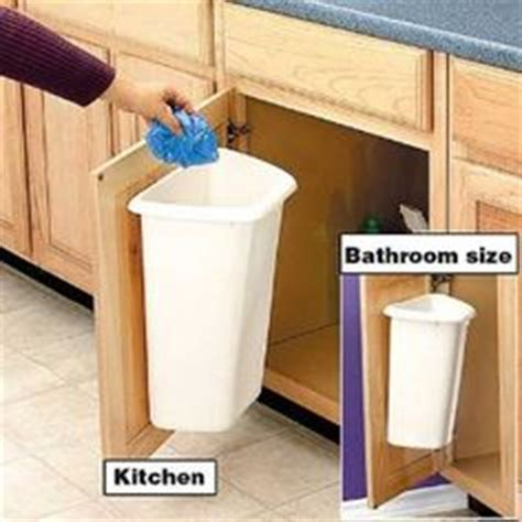 Under the sink trash can on Pinterest   Cabinet Doors