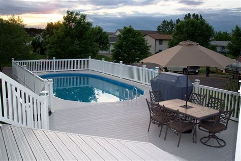 pool deck fencing ideas what you must know about above ground pool ideas homestylediary com