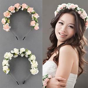 Flower Garland Floral Bridal Headband Hairband Wedding