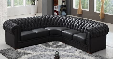 canapé convertible chesterfield cuir deco in canape d angle capitonne cuir chesterfield