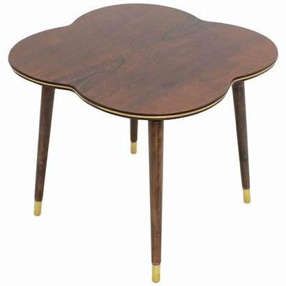 Coffee Table Mid Century Modern Walnut Leaf