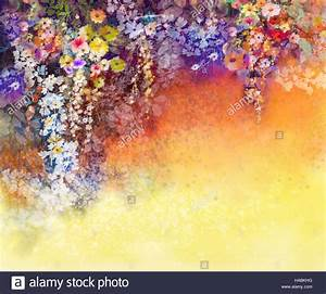 Grün Auf Englisch : abstrakte blumen aquarell handgemalte wei gelb und rot blumen in weiche farbe auf gr n blau ~ Orissabook.com Haus und Dekorationen