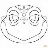 Mask Turtle Printable Coloring Lizard Ninja Colorear Maschera Tortuga Dibujos Template Colorare Sea Supercoloring Templates Marina Masks Tartaruga Turtles Paper sketch template