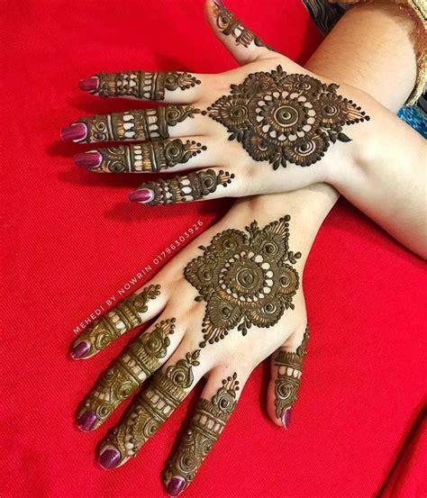 beautiful trending eid mehndi designs  simple styles