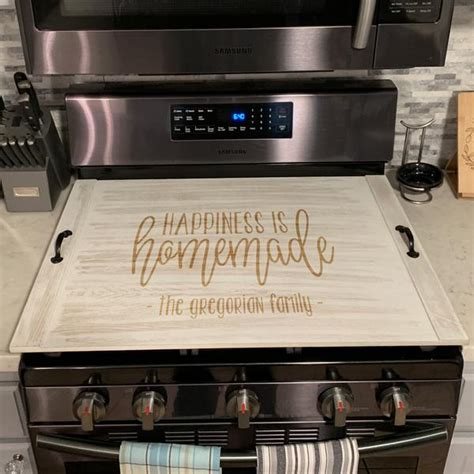 personalized stove top cover custom ottoman tray noodle