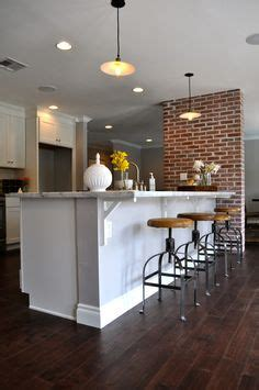 floating kitchen island  attached  wall kitchen