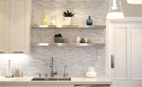 Gray Tile Backsplash : White Gray Marble Mosaic Tile Backsplash