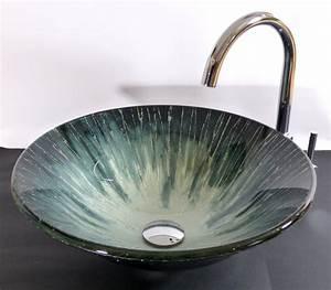 Waschbecken Glas Rund : nero badshop aufsatz glas waschbecken aqua 42cm rund online kaufen ~ Markanthonyermac.com Haus und Dekorationen