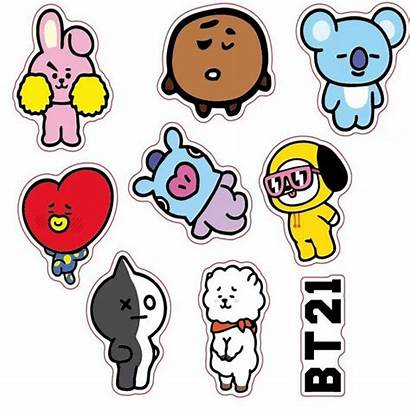 Bts Stickers Kpop Cartoon Korean Bt21 Van