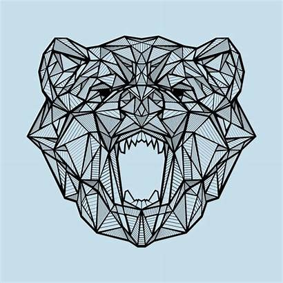 Geometric Bear Teepublic Animal Tattoo Designs Shirt