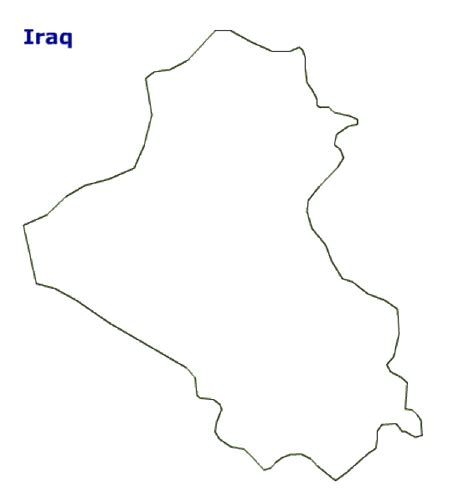 Map Of Iraq Terrain Area And Outline Maps Of Iraq