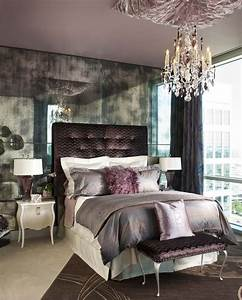 Rustic glam bedroom contemporary with purple accent for Rustic glam bedroom