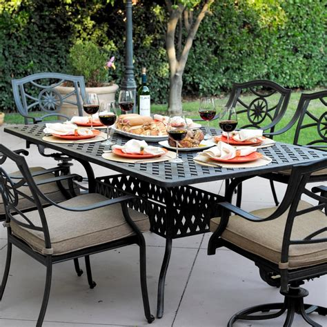 Darlee Patio Furniture Sets by Darlee Ten 7 Cast Aluminum Patio Dining Set