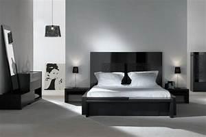 Dco Noir Et Blanc Chambre Coucher 25 Exemples Lgants