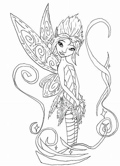 Coloring Fairy Pages Gothic Printable Fairies Periwinkle
