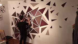 How, To, Paint, A, Perfect, Geometric, Wall, Easy, Painting
