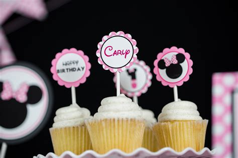 minnie mouse party cupcake topper  design