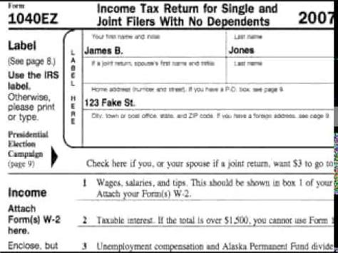 complete  ez tax form     ez