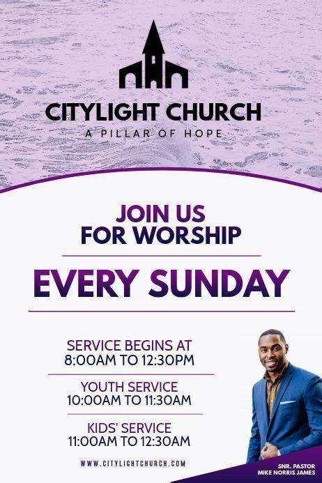 invitation  church service flyer customize  design