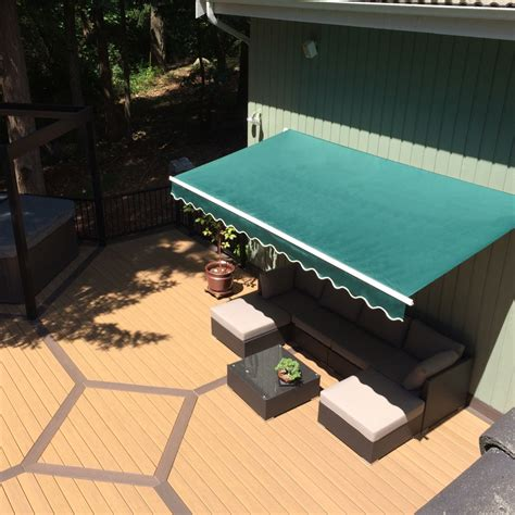 aleko motorized retractable patio awning    ft green color walmart canada